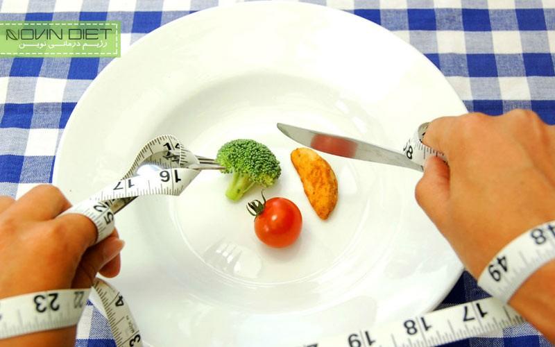 کاهش اشتها با تغییر سایز ظرف غذا