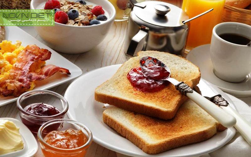 خوردن صبحانه جهت جلوگیری از چاقی